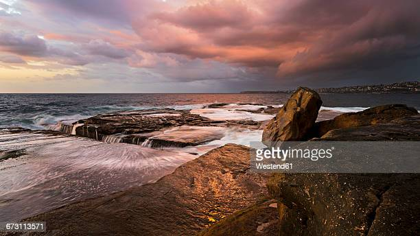 Australia, New South Wales, Clovelly, Shark point in the evening
