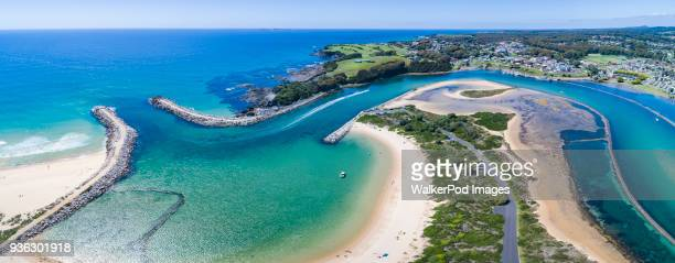 Australia, New South Wales, Narooma, Harbour and lagoon
