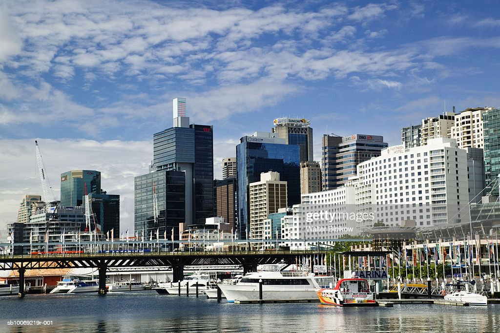Australia, New South Wales, Sydney, Cityscape at Darling Harbour : Stockfoto