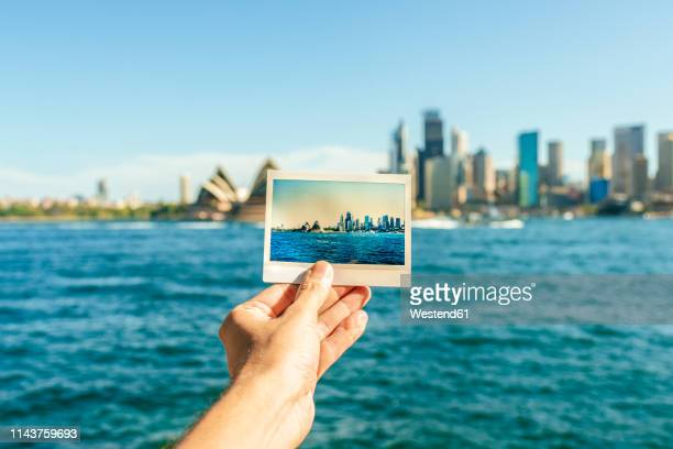 australia, new south wales, sydney, close-up of sydney landscape analog photography in front of sydney - シドニー・オペラハウス ストックフォトと画像
