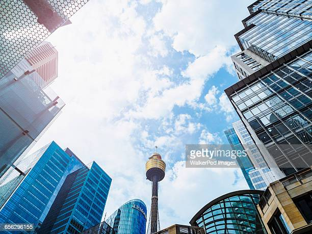 Australia, New South Wales, Sydney, Low-angle view of communications tower