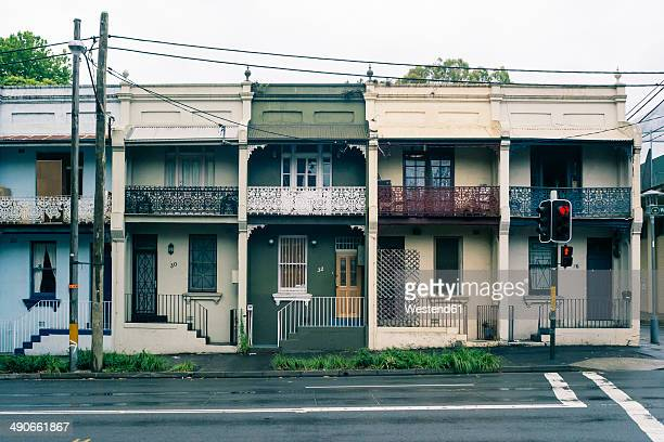 australia, new south wales, sydney, row of old residential houses - sydney stock pictures, royalty-free photos & images