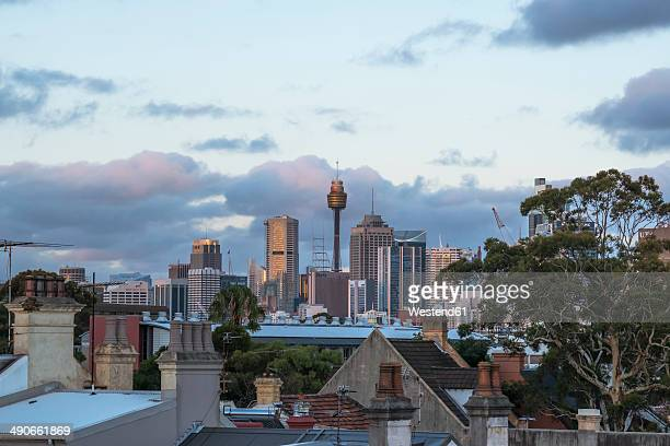 Australia, New South Wales, Sydney, skyline at dusk