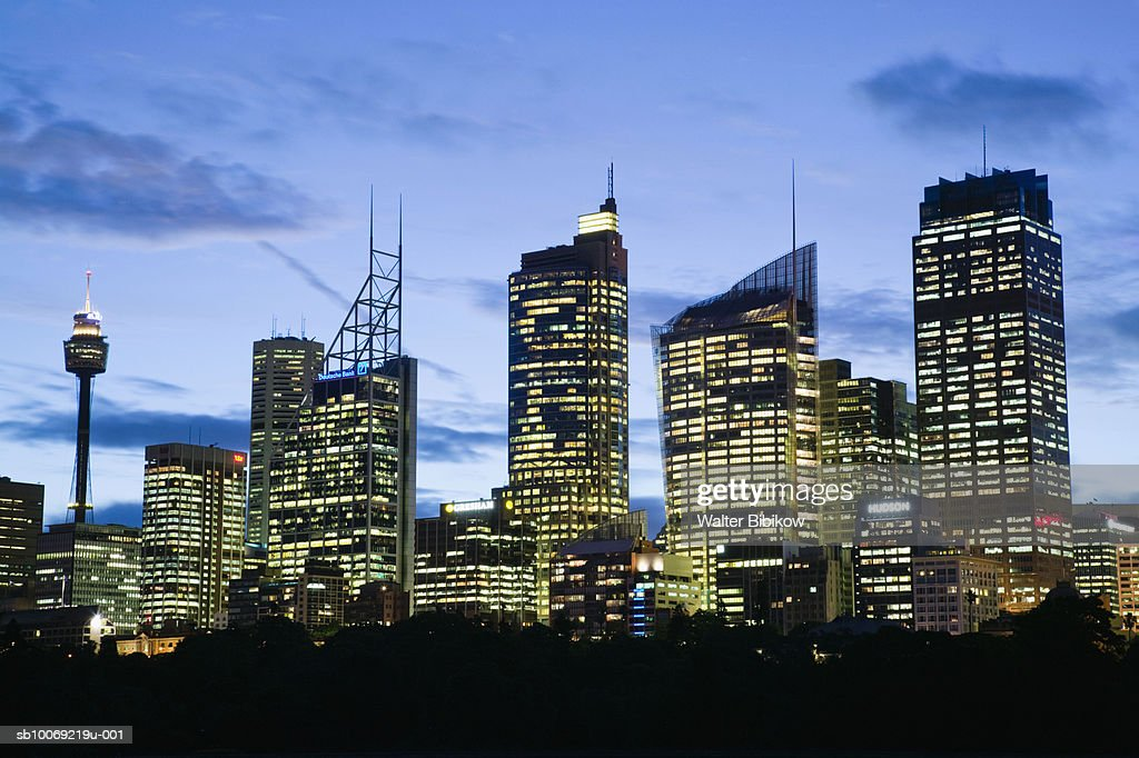 Australia, New South Wales, Sydney, Skyline at dusk : Stockfoto