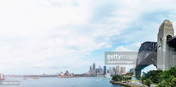 Australia, New South Wales, Sydney, Sydney Opera House on cloudy day