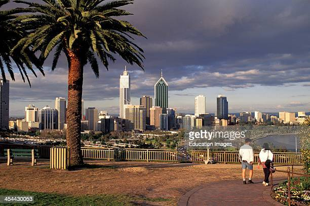 Australia Perth City Skyline As Seen From Kings Hill