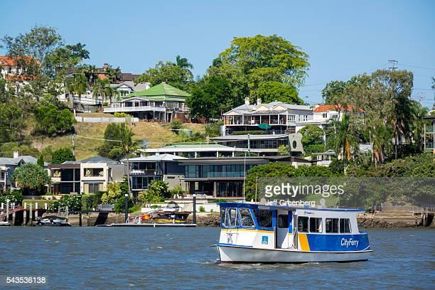 Australia Queensland Brisbane Brisbane River East Brisbane Norman Park waterfront residences homes houses apartments City Ferry City Ferry Queensland...