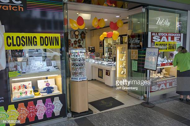 Australia Queensland Brisbane Central Business District Brisbane Square George Street ValRay Jewelers jeweler jewelry front entrance sign closing...