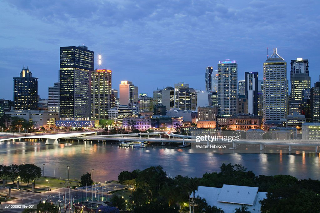 Australia, Queensland, Brisbane, City Skyline : Stockfoto