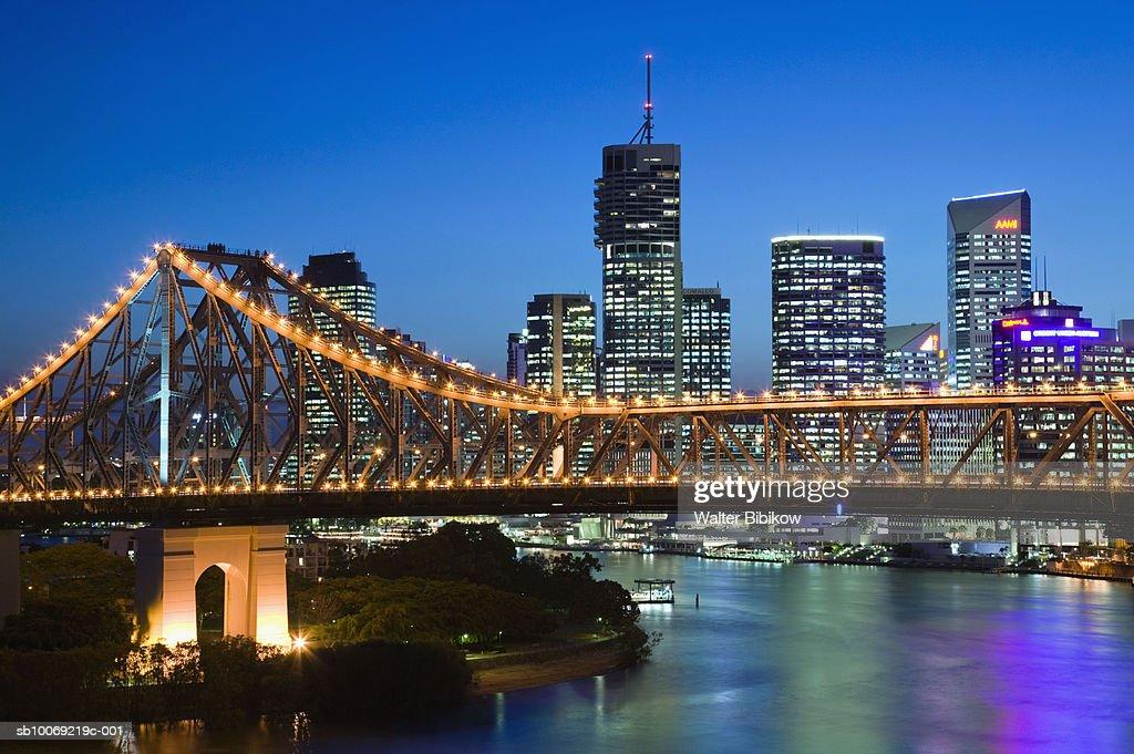 Australia, Queensland, Brisbane, Cityscape and Story Bridge : Stockfoto