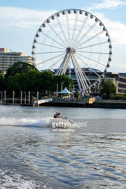 Australia Queensland Brisbane Southbank The Brisbane Wheel Ferris wave runner jet ski Brisbane River