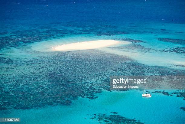 Australia, Queensland, Cairns, Aerial View Great Barrier Reef.