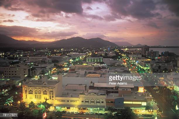 australia, queensland, cairns, elevated view - cairns stock photos and pictures