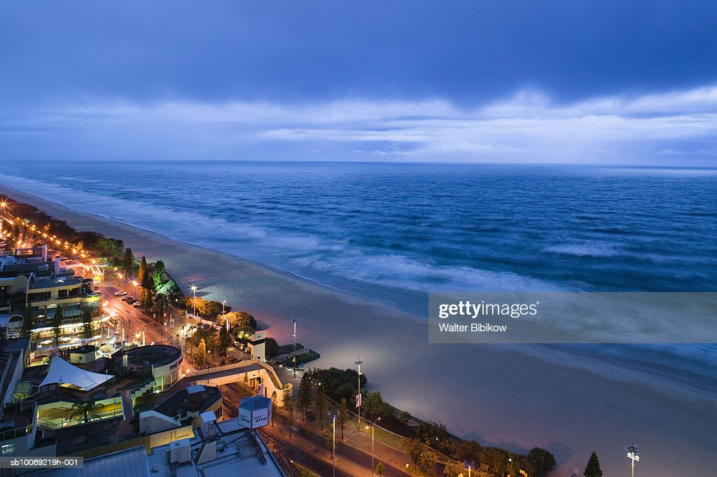 Australia, Queensland, Gold Coast, Surfer's Paradise Beach : Stockfoto