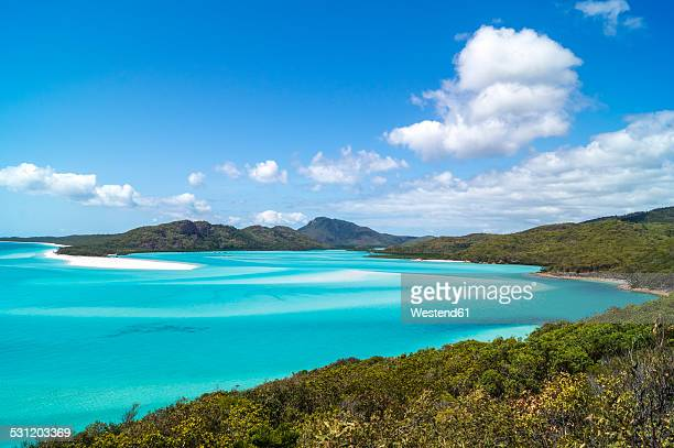 australia, queensland, whitehaven beach - whitehaven beach stock photos and pictures