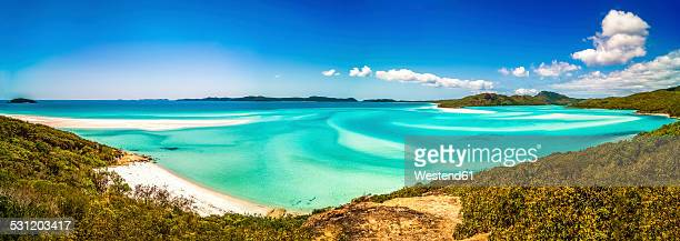 australia, queensland, whitehaven beach - whitsunday island stock photos and pictures