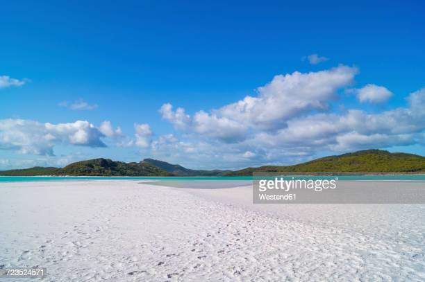 australia, queensland, whitsunday island, whitehaven beach - whitehaven beach stock-fotos und bilder