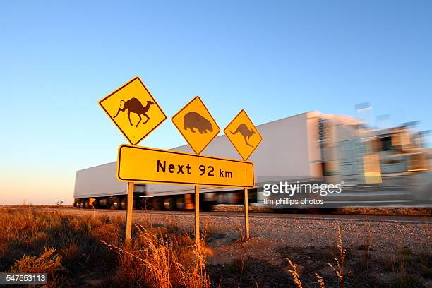 Australia road sign highway