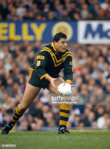 Australia rugby league halfback Steve Roach in action againt Great Britain at Old Trafford in Manchester on 10th November 1990 Australia won 1410