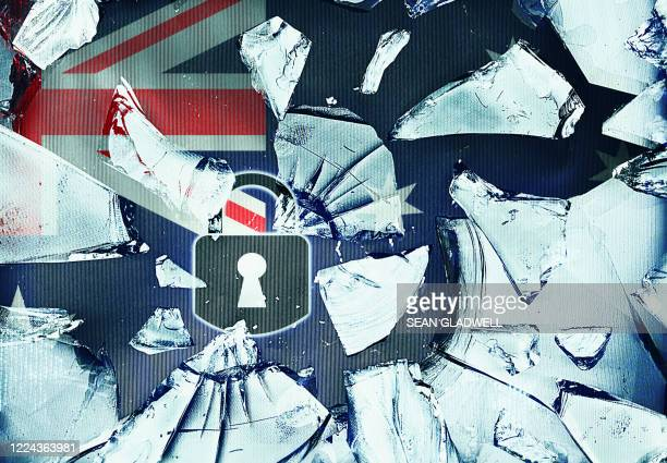 australia security concept - australian flag stock pictures, royalty-free photos & images