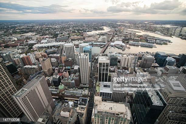 Australia skyline from Sydney tower