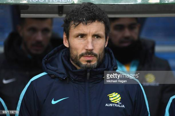 Australia Socceroos assistant coach Mark van Bommel looks on prior to the International Friendly match between Norway and Australia at Ullevaal...