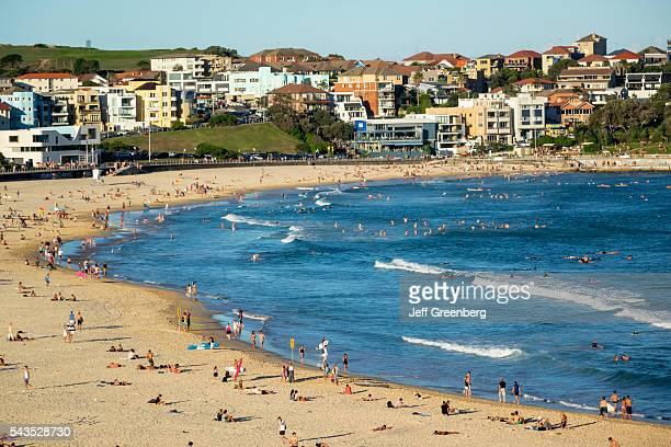 Australia Sydney Bondi Beach Pacific Ocean surf waves sand public North Bondi surfers