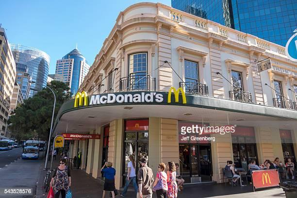 Australia, Sydney, CBD Central Business District Circular Quay McDonald's restaurant fast food entrance historic building.