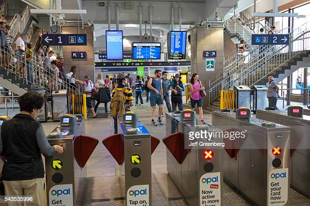 Australia Sydney CBD Central Business District Circular Quay train railway station City Circle Line public transportation entrance gate