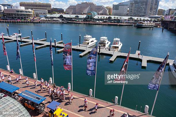 Australia Sydney Central Business District CBD Darling Harbor Cockle Bay Promenade Harbourside Shopping Centre shopping boats water