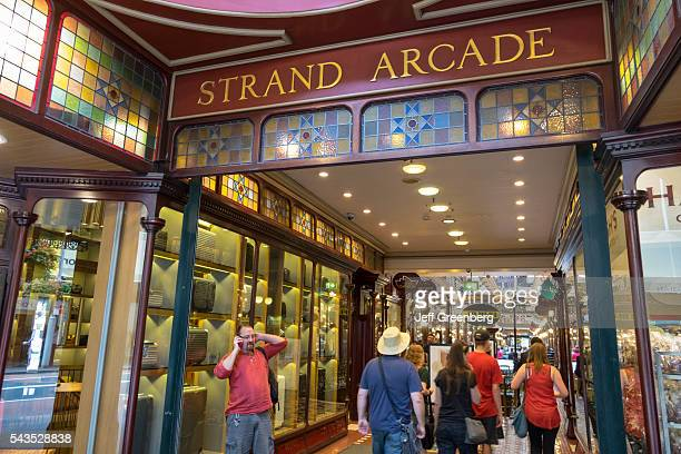 Australia Sydney Central Business District CBD George Street The Strand Arcade shopping historic inside interior