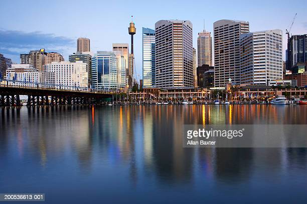 Australia, Sydney, Darling Harbour, sunset