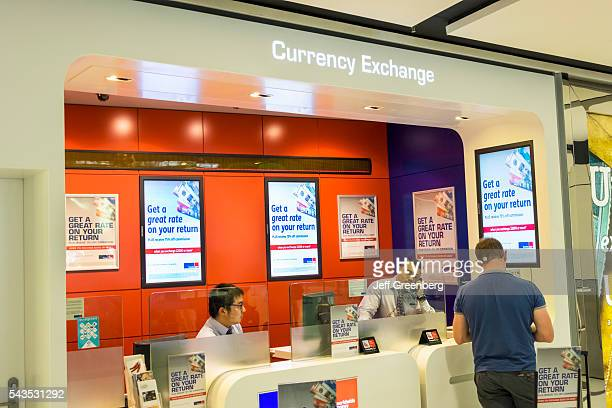Australia Sydney Kingsfordsmith Airport Syd Inside Interior Terminal Concourse Gate Area Currency Exchange Money Counter Asian