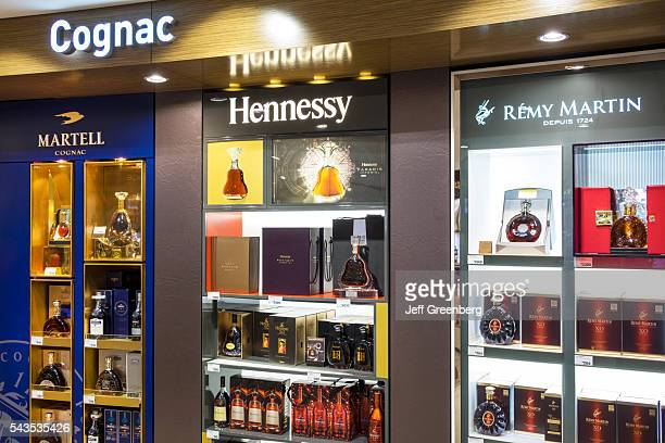 Australia Sydney KingsfordSmith Airport SYD inside interior terminal concourse gate area shopping sale display Tax Duty Free alcoholic beverages...