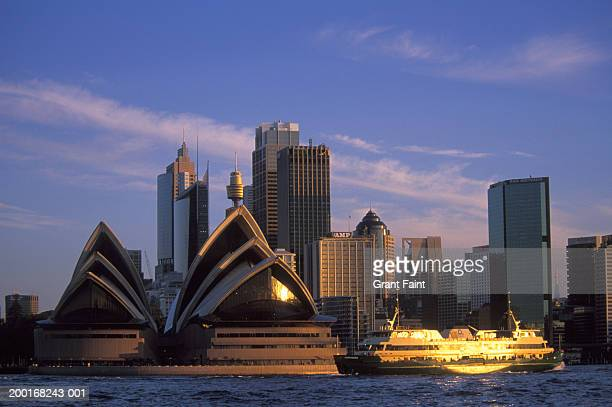 australia, sydney, opera house and skyline - sydney opera house stock pictures, royalty-free photos & images