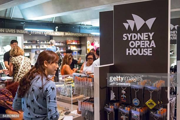 Australia Sydney Sydney Harbor Sydney Opera House inside gift shop store sale souvenirs