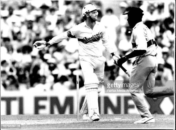 Australia v West Indies at SCGDean Jones series bowled Ambrose 3 pics December 18 1991