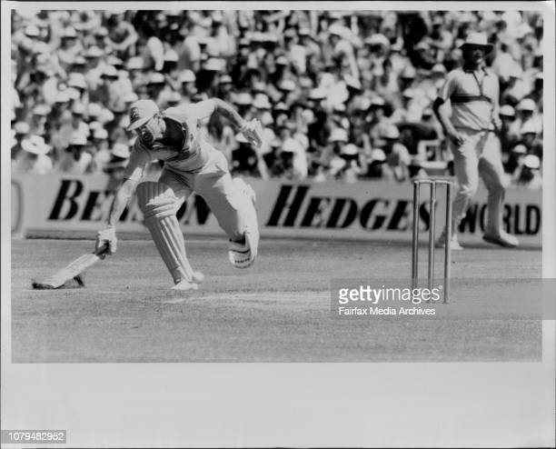 WSC Australia Verses England At SCG one day matchWellham almost run out January 22 1987
