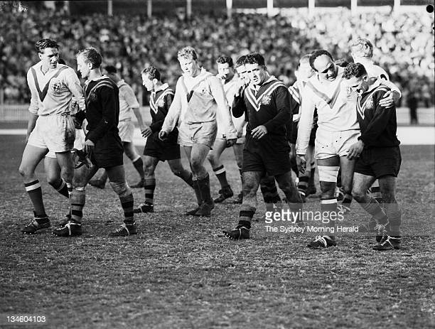 Australia versus England in the first Rugby League test at the Sydney Cricket Ground 9 June 1962