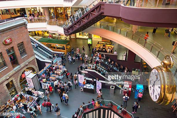 Australia Victoria Melbourne Central Business District CBD Central Dome center mall shopping Shot Tower Museum historic giant clock timepiece