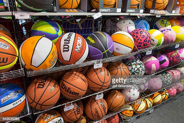 Australia Victoria Melbourne Central Business District CBD Central sale shopping new basketballs sports store equipment center mall display