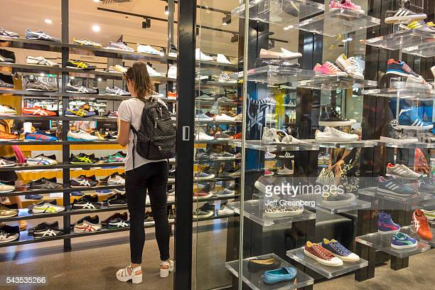 Australia Victoria Melbourne Central Business District CBD Central Dome center mall sale shopping fashion window display front entrance Hype DC shoes...