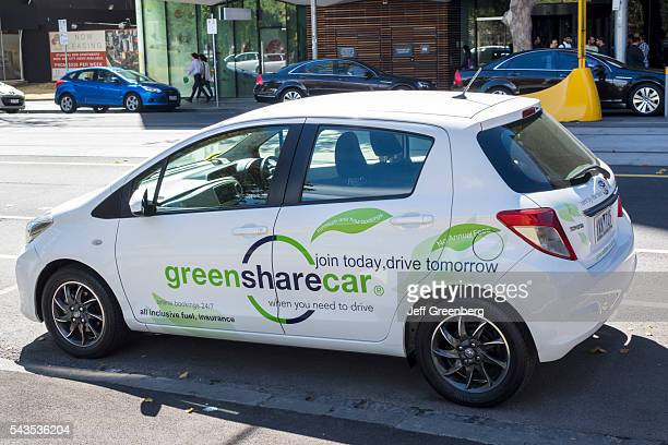 Australia Victoria Melbourne Central Business District CBD William Street Green Share Car sharing short term rental