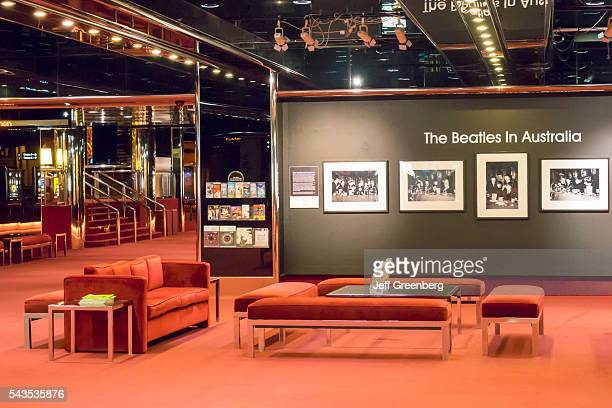 Australia Victoria Melbourne Southbank St Kilda Road Art Center State Theater lobby Beatles in Australia exhibit Beatle mania