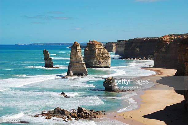 Australia, Victoria, View of Twelve Apostles Sea Rocks