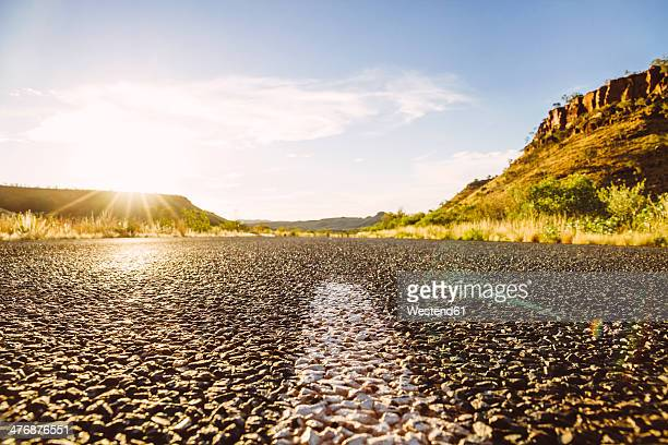 Australia, Western Australia, sunlight and empty road