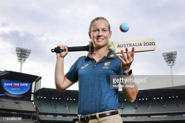Australia women's captain Meg Lanning poses ICC T20 World Cup 2020 morning tea to celebrate oneyeartogo to the women's final at Melbourne Cricket...