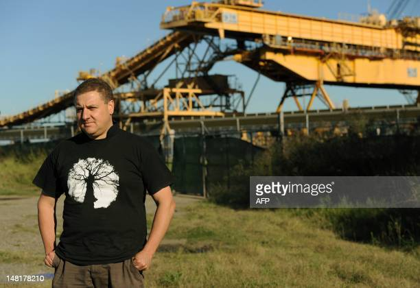 STORY 'AustraliaclimatewarmingminingAsiaUNFEATURE' by BY This photo taken on April 25 2012 shows Simon Fane from the Hunter Community Environment...