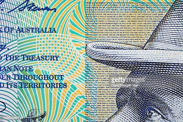 Australian $10 polymer banknote, detail