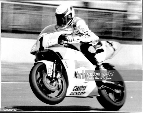Australian 500cc Motorcycle Grand PrixUSA Rider Wayne Rainey April 6 1991